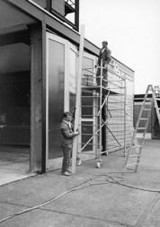 Austausch der Gerätehaustore 1988