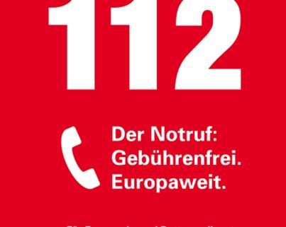 Titelbild: 112 Gebührenfreier Notruf