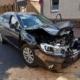 Demoliertes Unfallfahrzeug