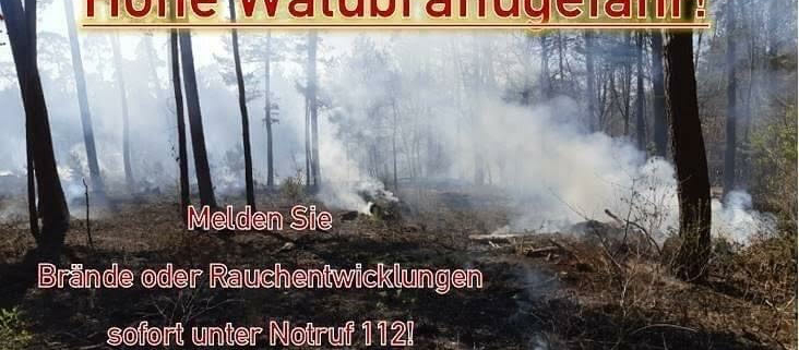 Titelbild: Waldbrandgefahr